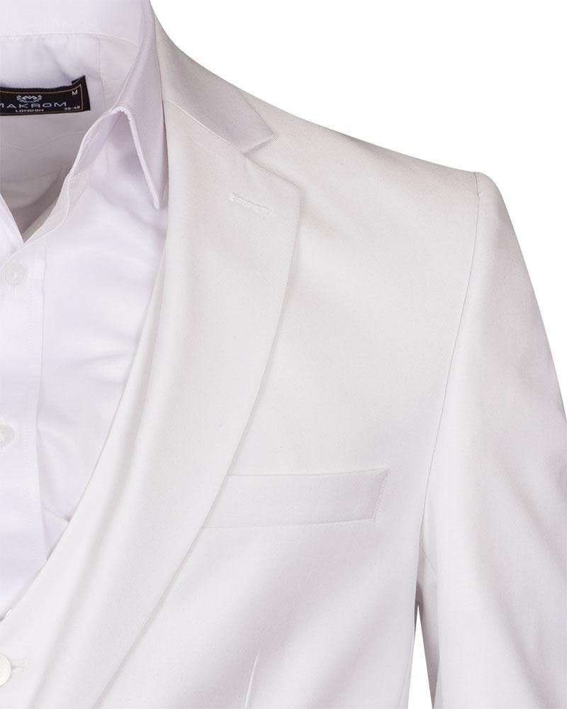 Makrom White Suit