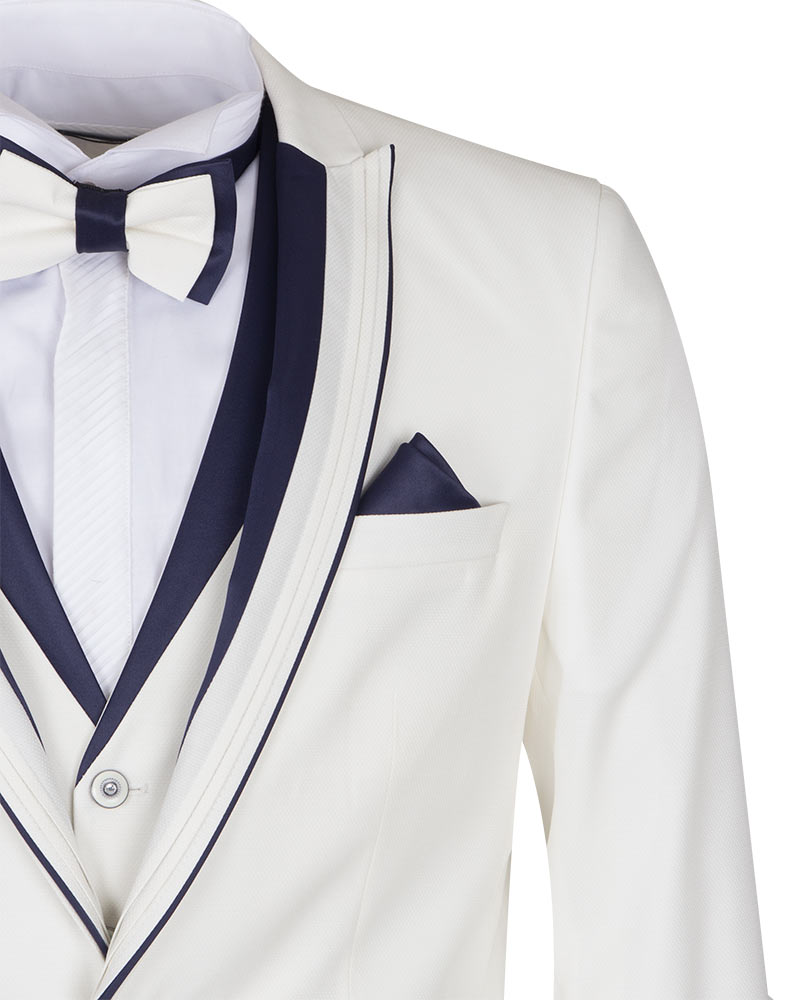 Mens White Wedding Suit