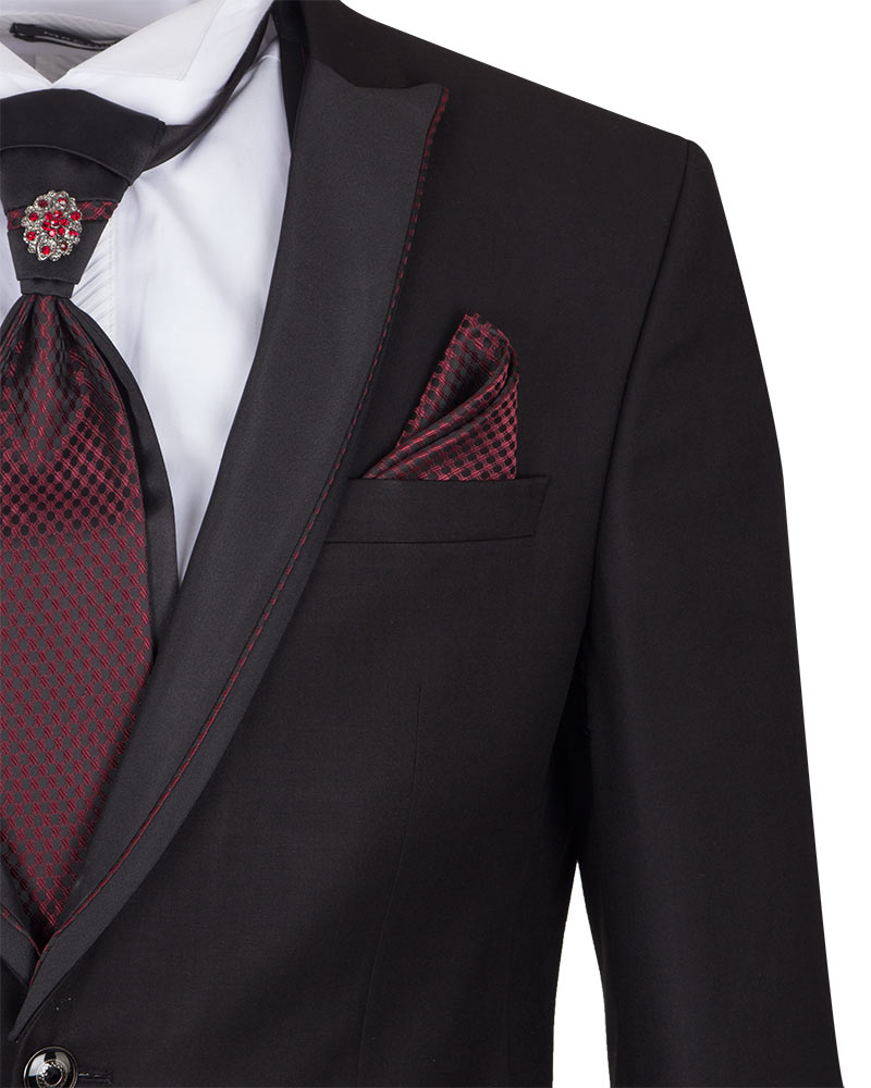 Mens Black Wedding Suit