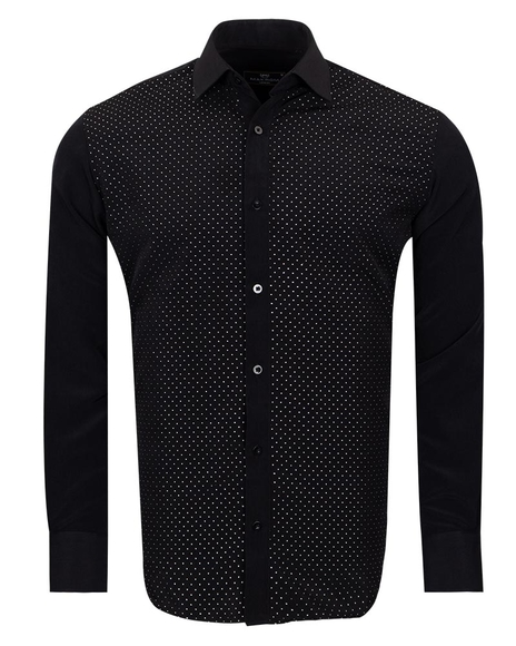 MAKROM - Black Mens Detailed Shirt SL 6893