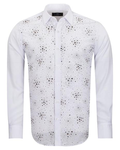 MAKROM - White Mens Detailed Shirt SL 6894