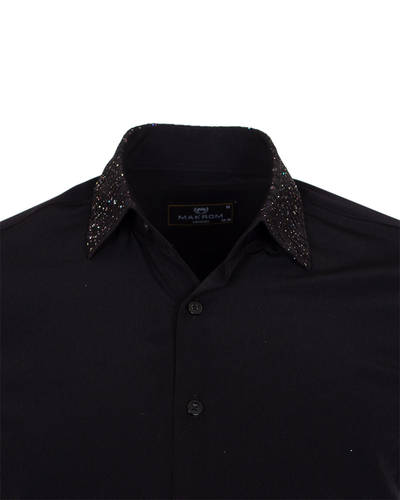 MAKROM - Fashion Mens Shirt with Shiny Details SL 6984 (1)