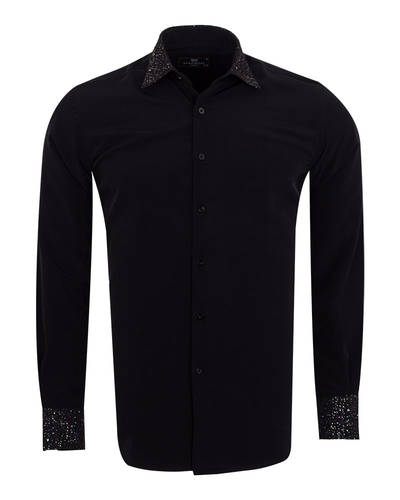 MAKROM - Fashion Mens Shirt with Shiny Details SL 6984