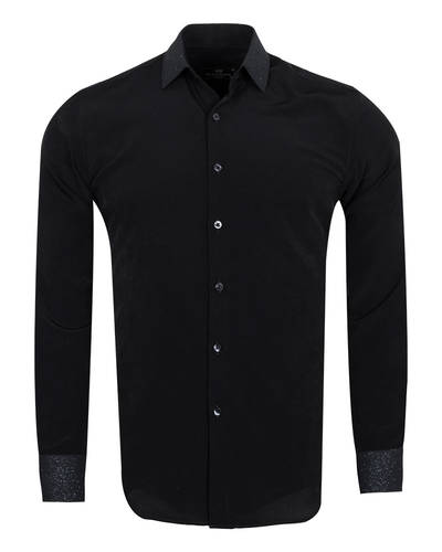 MAKROM - Fashion Mens Shirt with Silvery Details SL 6985 (Thumbnail - )