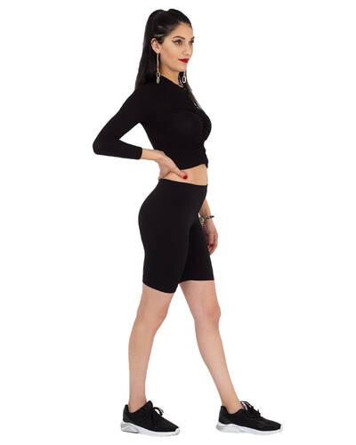 MAKROM - Black Standart Womens Leggings TY 006