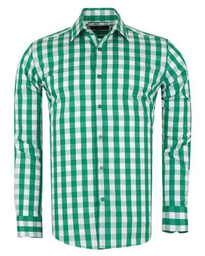 MAKROM - Checkered Long Sleeved Mens Shirt SL 7168