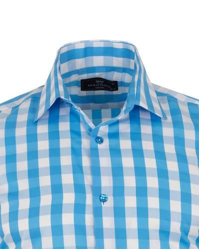 MAKROM - Checkered Long Sleeved Mens Shirt SL 7169 (1)