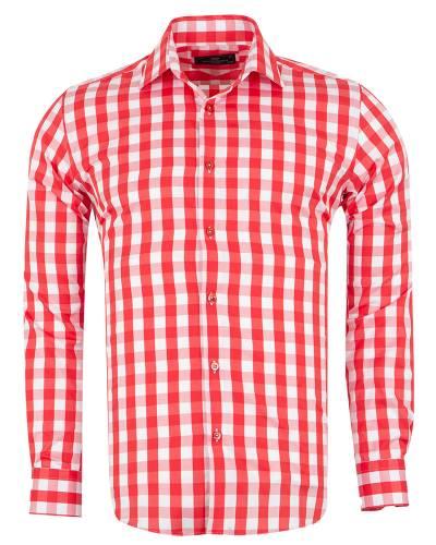 MAKROM - Checkered Long Sleeved Mens Shirt SL 7169 (Thumbnail - )