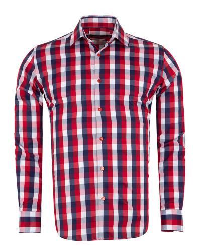 MAKROM - Checkered Long Sleeved Mens Shirt SL 7170