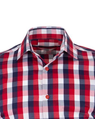 MAKROM - Checkered Long Sleeved Mens Shirt SL 7170 (1)