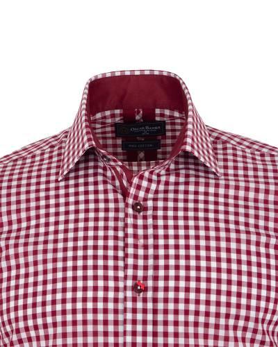 Oscar Banks - Checkered Long Sleeved Mens Shirt SL 7172 (1)