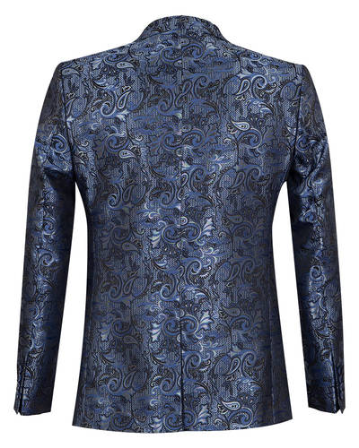 Oscar Banks - Textured Printed Mens Blazer J 283 (1)