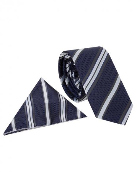MAKROM - Diamond and Striped Design Business Necktie KR 08 (Thumbnail - )