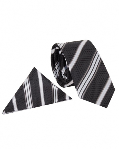 MAKROM - Diamond and Striped Design Business Necktie KR 08
