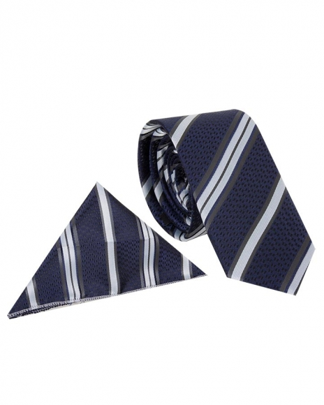 MAKROM - Diamond and Striped Design Business Necktie KR 08 (Thumbnail - )