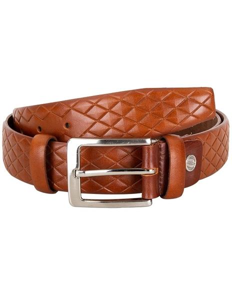 MAKROM - Diamond Pattern Leather Belt B 20