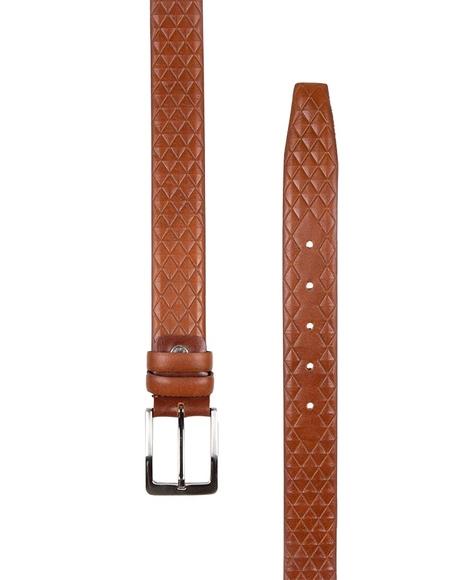 MAKROM - Diamond Pattern Leather Belt B 20 (1)