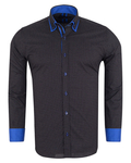Dots and Patterns Printed Double Collar Mens Shirt SL 7074 - Thumbnail