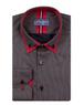 Double Collar Striped Mens Long Sleeved Mens Shirt SL 6741 - Thumbnail