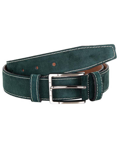 MAKROM - Double Ply Suede Leather Belt B 32 (Thumbnail - )