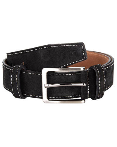 MAKROM - Double Ply Suede Leather Belt B 33 (Thumbnail - )
