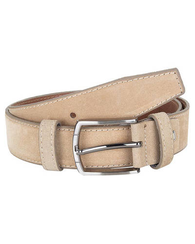 MAKROM - Double Ply Suede Leather Belt B 34 (Thumbnail - )