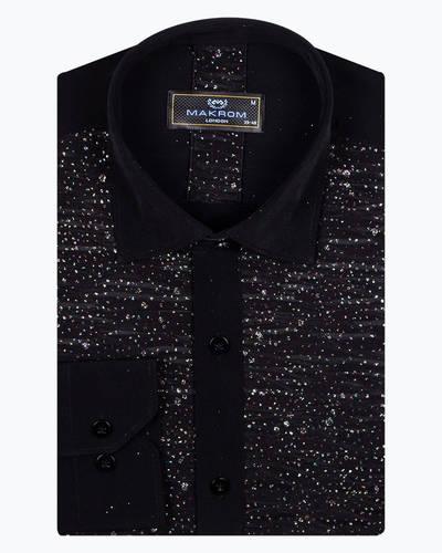 MAKROM - Fashion Mens Shirt with Shiny Details SL 6991 (1)