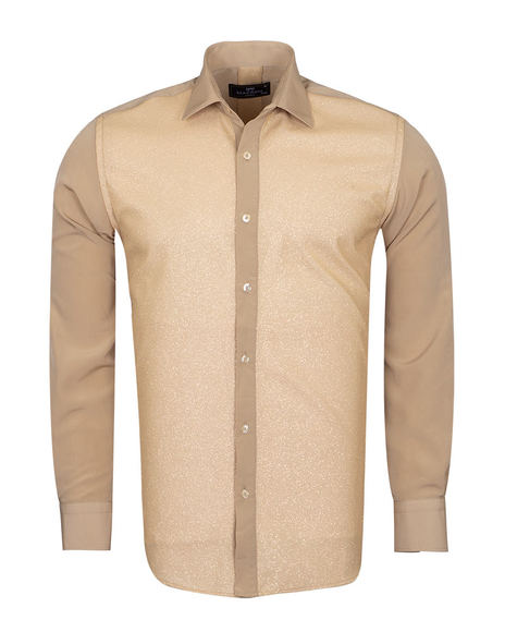 MAKROM - Fashion Mens Shirt with Silvery Details SL 6992 (Thumbnail - )