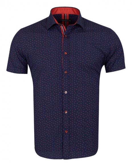 MAKROM - Floral and Polka Dot Printed Short Sleeved Shirt SS 6689