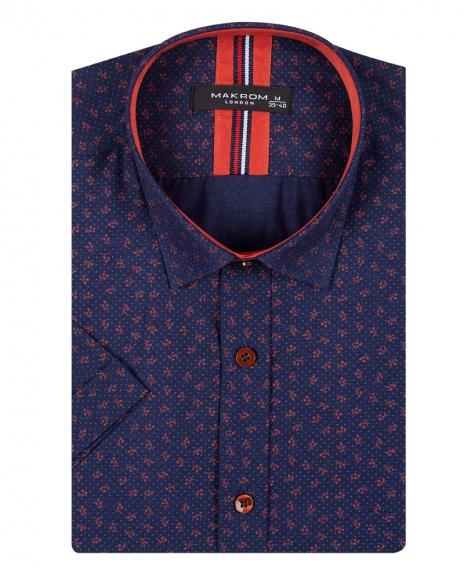 MAKROM - Floral and Polka Dot Printed Short Sleeved Shirt SS 6689 (1)