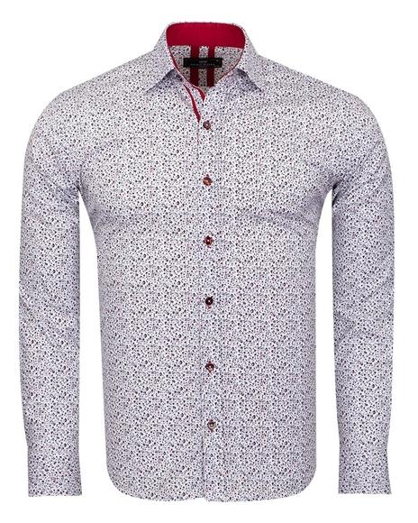 MAKROM - Floral Printed Long Sleeved Mens Shirt SL 6811
