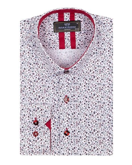 MAKROM - Floral Printed Long Sleeved Mens Shirt SL 6811 (1)