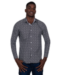Floral Printed Long Sleeved Mens Shirt SL 6823 - Thumbnail