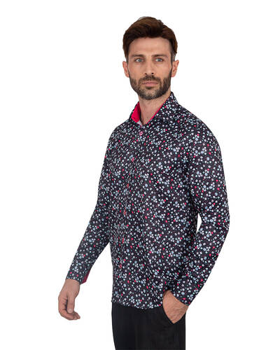 MAKROM - Floral Printed Long Sleeved Mens Shirt SL 7087 (1)
