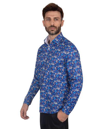 MAKROM - Floral Printed Mens Shirt SL 7084 (1)