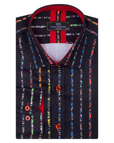 MAKROM - Floral Printed Mens Shirt SL 7085 (1)