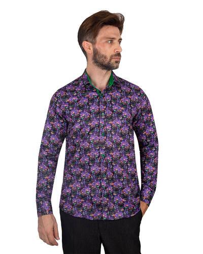 MAKROM - Floral Printed Mens Shirt SL 7088 (1)