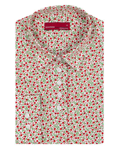 MAKROM - Floral Printed Womens Shirt LL 3317