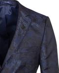 Floral Textured Mens Blazer J 278 - Thumbnail