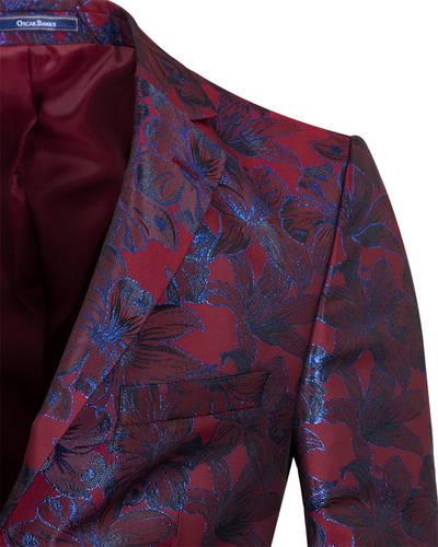 Floral Textured Mens Blazer J 278