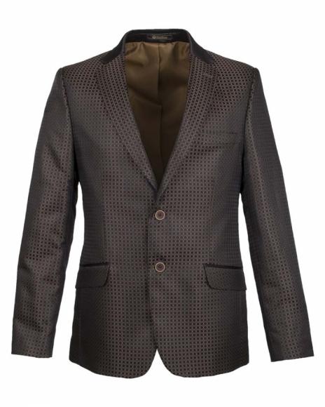 OSCAR BANKS - Blazer with Textured Fabric J 179 (Thumbnail - )