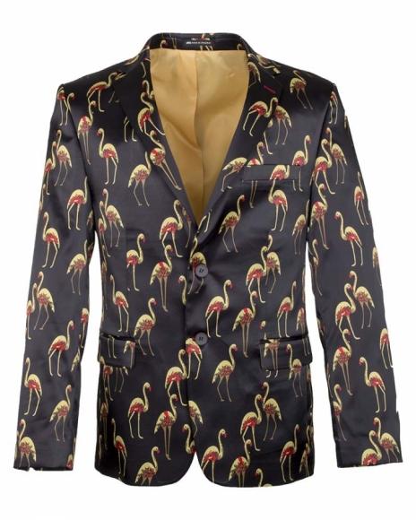 Flamingo Printed Satin Blazer J 195