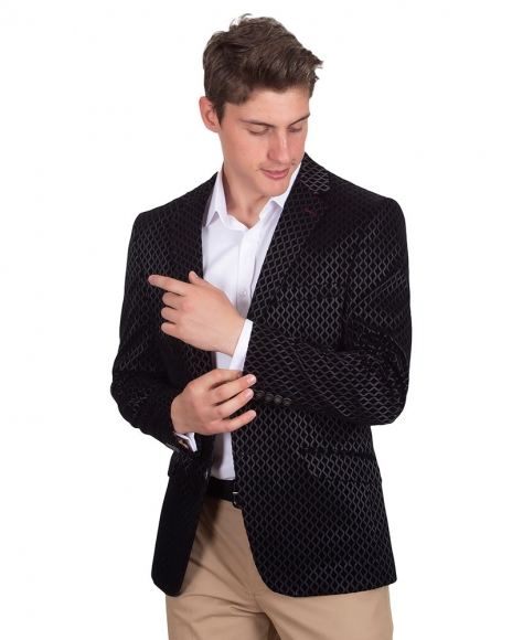 Oscar Banks - Blazer with Textured Fabric J 215 (Thumbnail - )