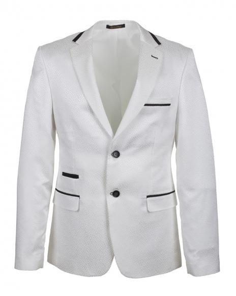 OSCAR BANKS - Quality Mens White Jacket J 218