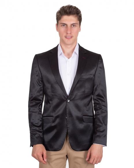 MAKROM - Polka Dot Textured Mens Blazer J 226