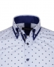 Leaf and Polka Dot Printed Long Sleeved Mens Double Collar Shirt SL 6677 - Thumbnail