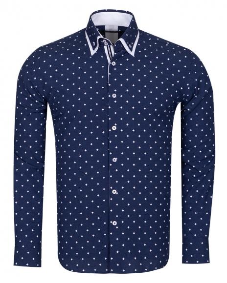 MAKROM - Leaf and Polka Dot Printed Long Sleeved Shirt SL 6677 (1)