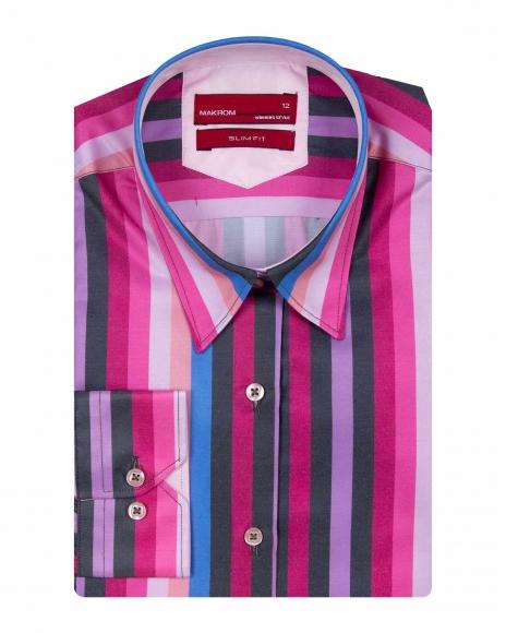 MAKROM - Striped Long Sleeved Womens Shirt LL 3268 (1)