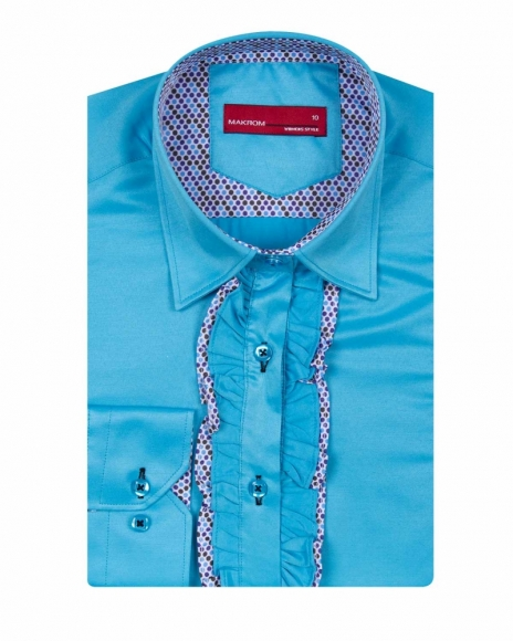 MAKROM - Long Sleeved Womens Shirt with Placket Details LL 3298