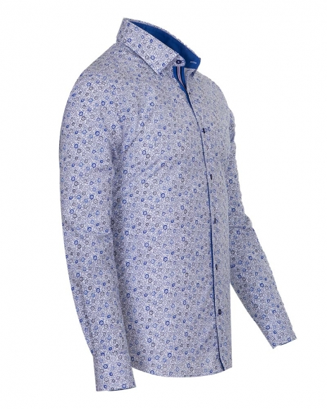Long Sleeved Floral Mens Shirt SL 6681